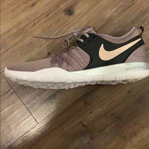 Purple Nike Free Running Shoe